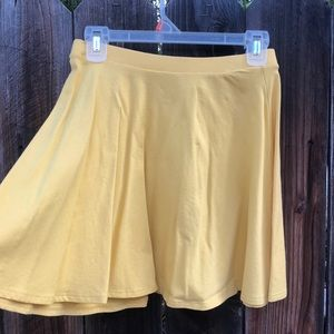 Yellow High Waist Skirt